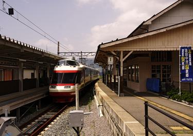 湯田中駅ホームの写真